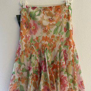 Lauren Ralph Lauren Floral Flowy Skirt - L